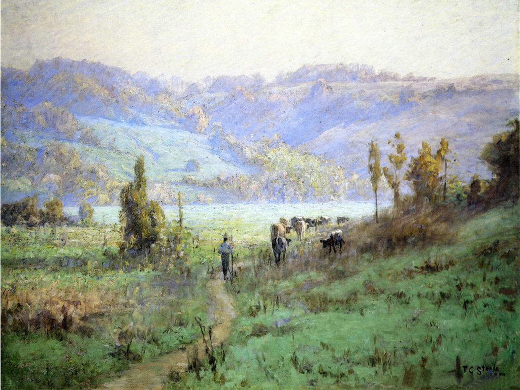 In the Whitewater Valley near Metamora, Theodore Clement Steele, 1894