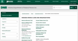 Indiana Hiking Clubs and Organizations