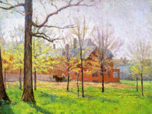 Talbott Place oil painting