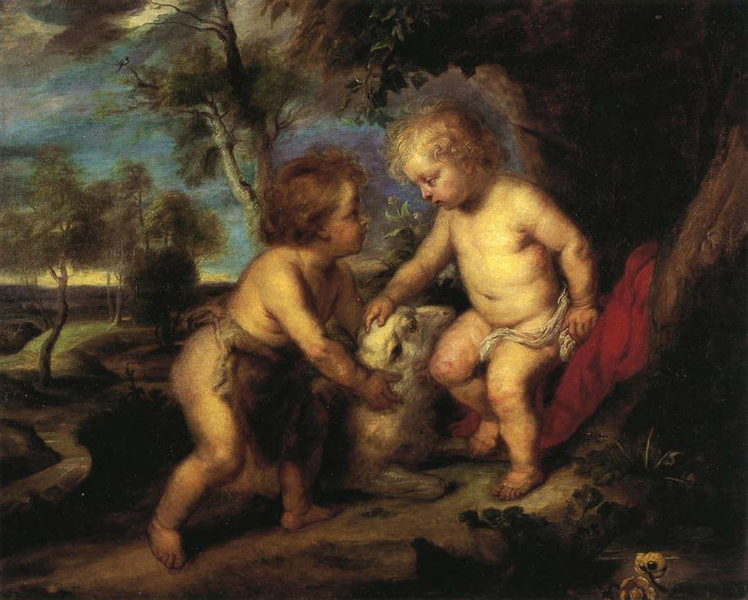 The Christ Child and the Infant St. John after Rubens by T.C. Steele