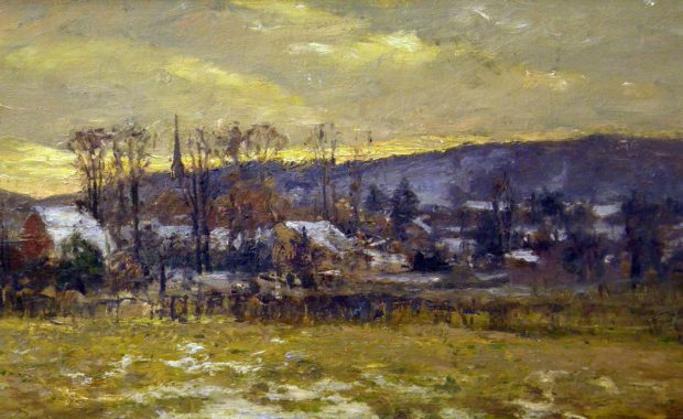 Painting of Brookeville, IN by T.C. Steele
